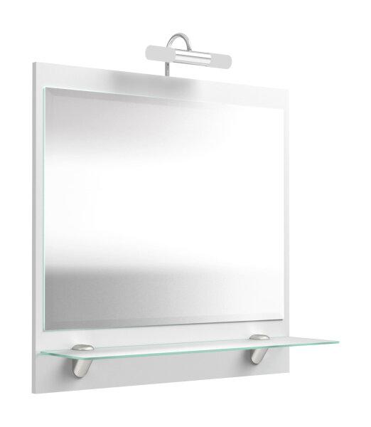 Spiegel SALONA weiß mit LED-Beleuchtung