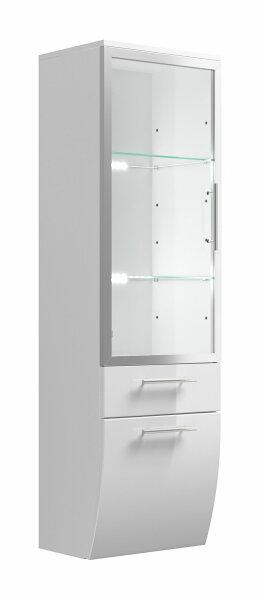 Hochschrank Salona weiß 40cm mit Glastür