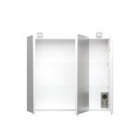 Spiegelschrank weiß 70cm mit LED-Beleuchtung