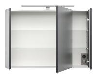 Spiegelschrank anthrazit 90cm LED-Beleuchtung