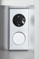 Spiegelschrank Walnuss-Nb. 70cm mt LED-Beleuchtung