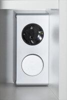 Spiegelschrank Walnuss-Nb. 70cm mit LED-Beleuchtung