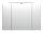 Spiegelschrank Walnuss-Nb. 90cm LED-Beleuchtung