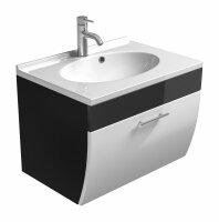 Waschplatz SALONA anthrazit-weiß 70cm mit...