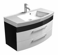 Waschplatz RIMA anthrazit-weiß 100cm mit...