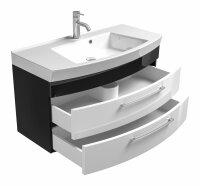 Waschplatz RIMA anthrazit-weiß 100cm mit Mineralgussbecken
