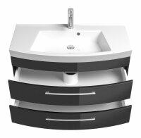 Waschplatz RIMA anthrazit 100cm mit Mineralgussbecken