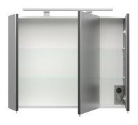 Spiegelschrank anthrazit 80cm mit LED-Beleuchtung