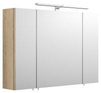 Spiegelschrank Eiche hell-Nb. 90cm LED-Beleuchtung