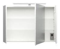 Spiegelschrank weiß 90cm LED-Beleuchtung
