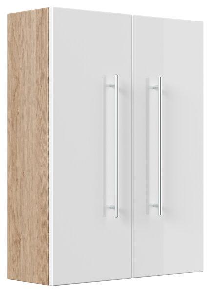Hängeschrank Salona Eiche hell-Nb.-weiß 53cm